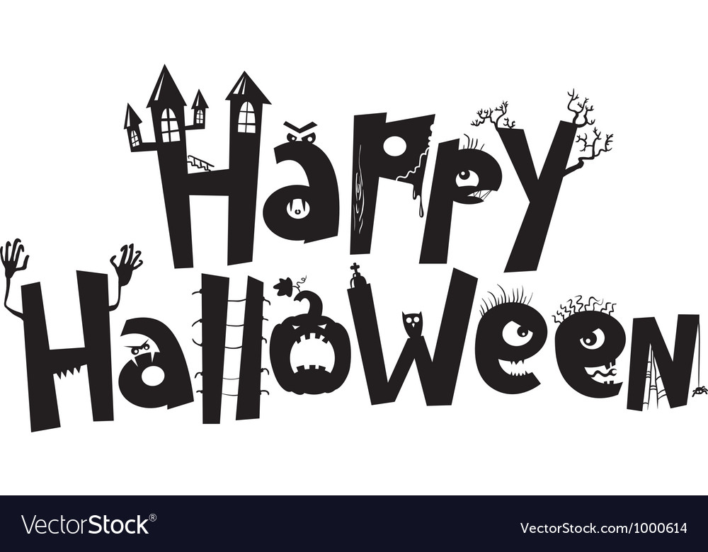 Happy Halloween Royalty Free Vector Image Vectorstock