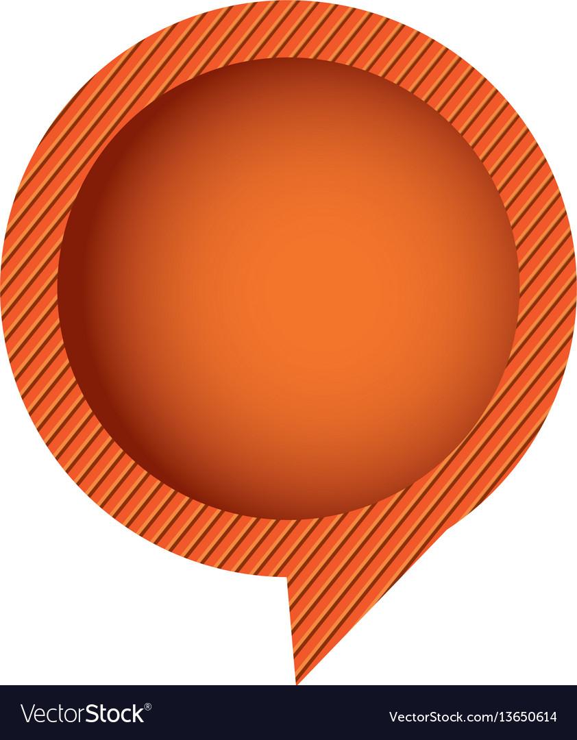 Orange chat circle bubble vector image