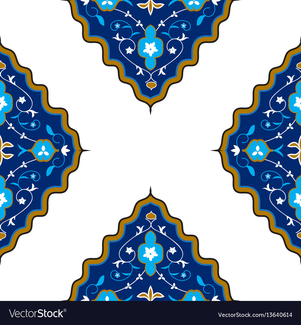 Oriental seamless pattern with arabesque
