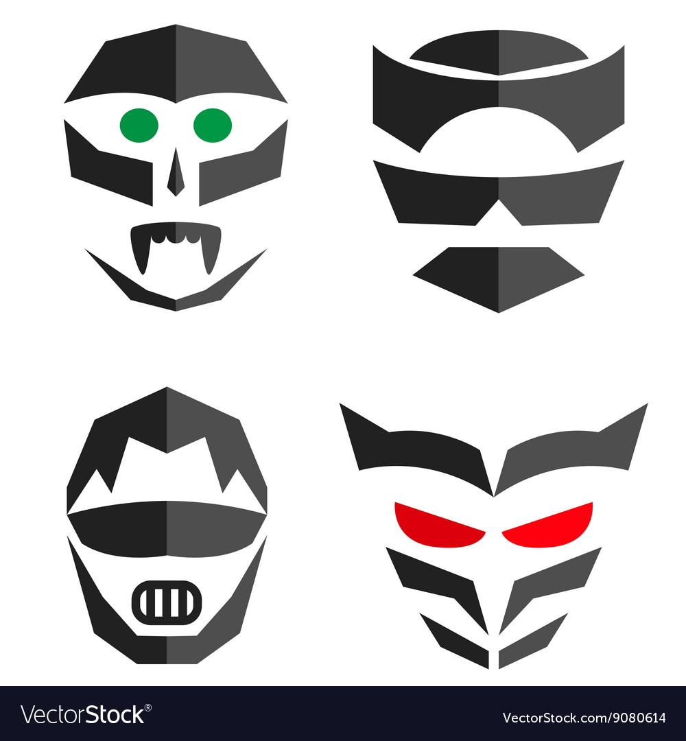 Set of hero mask Superhero costume accessories