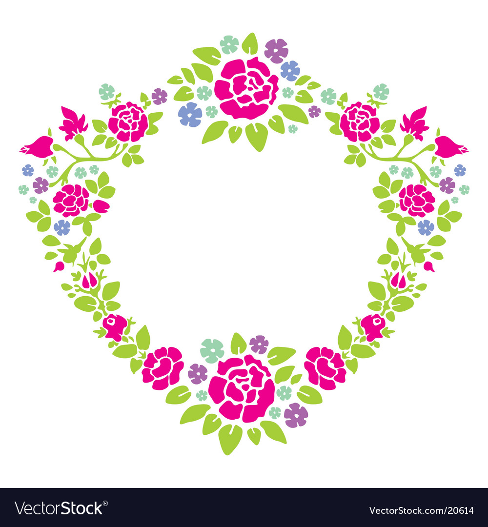 Wreath of roses vector image