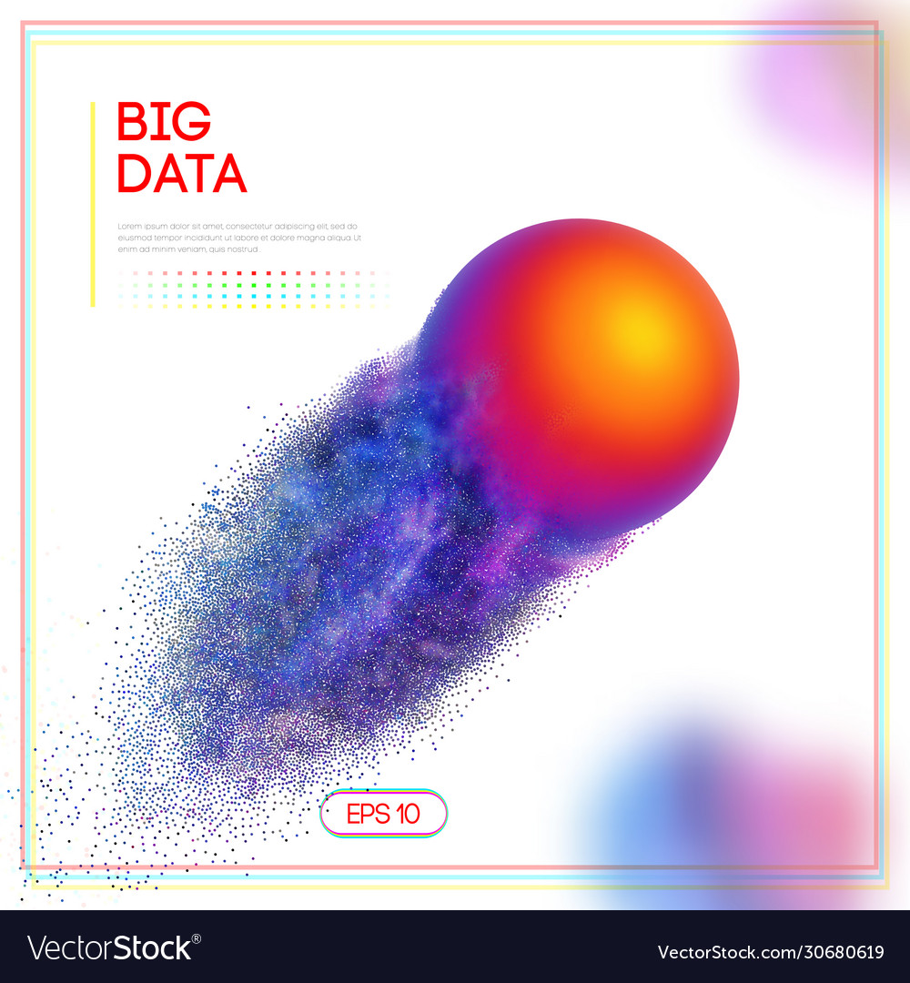 3d design template with big data colorful sphere