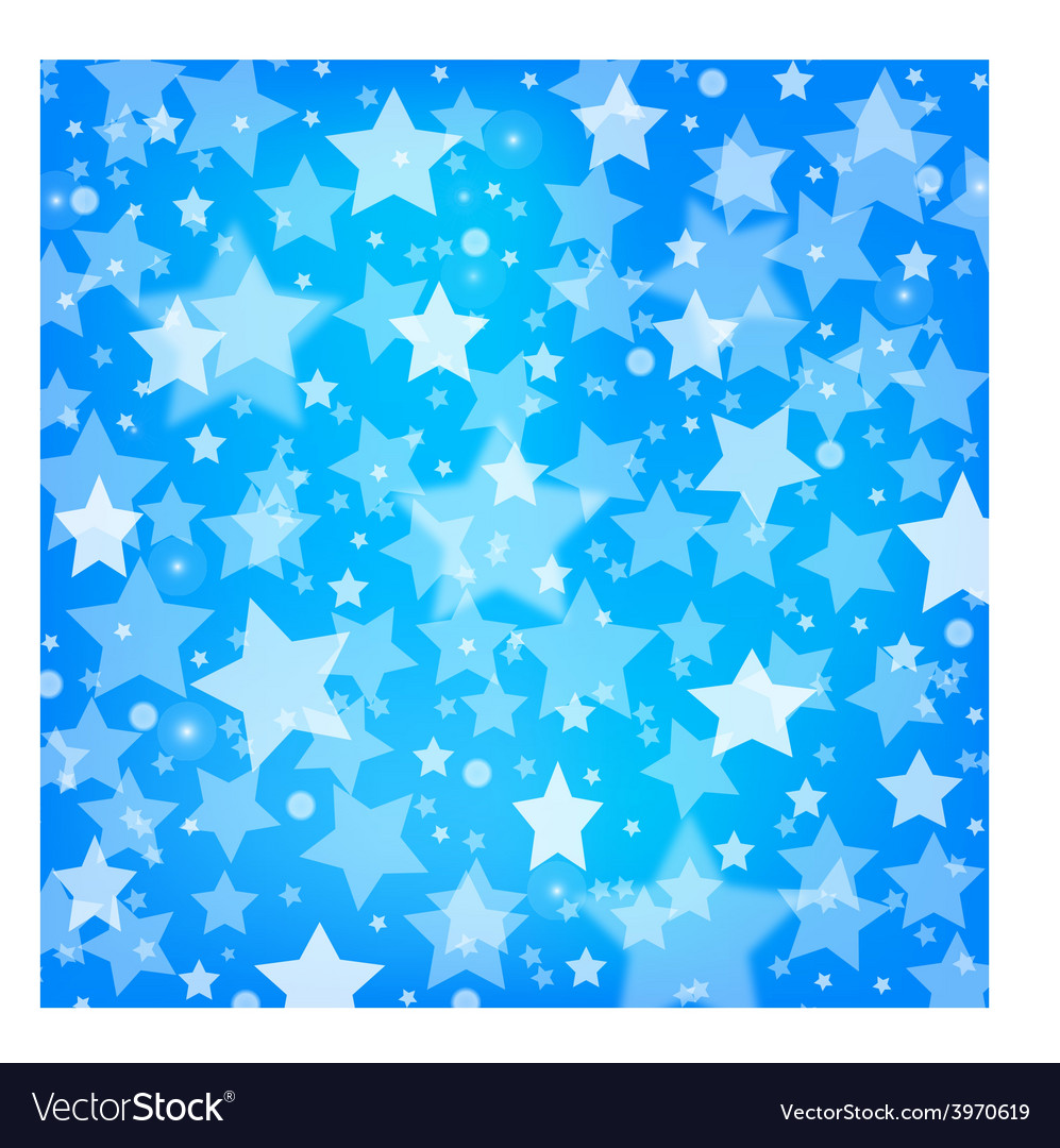 Abstract blue background with glitter stars