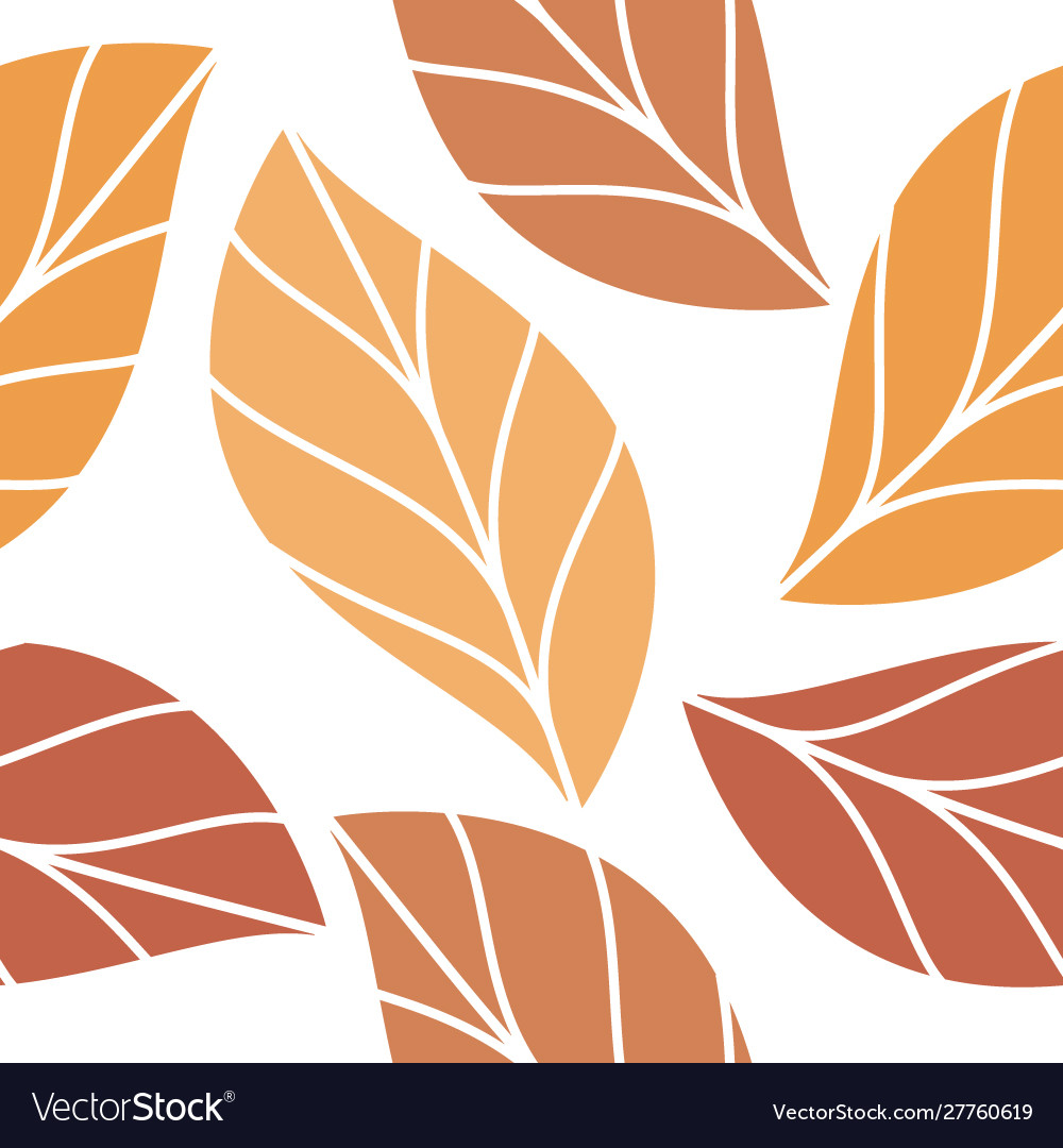 Autumn colored leaves seamless repeating pattern
