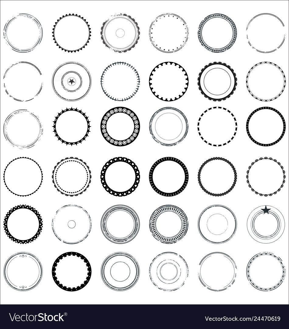 Collection round and circular decorative