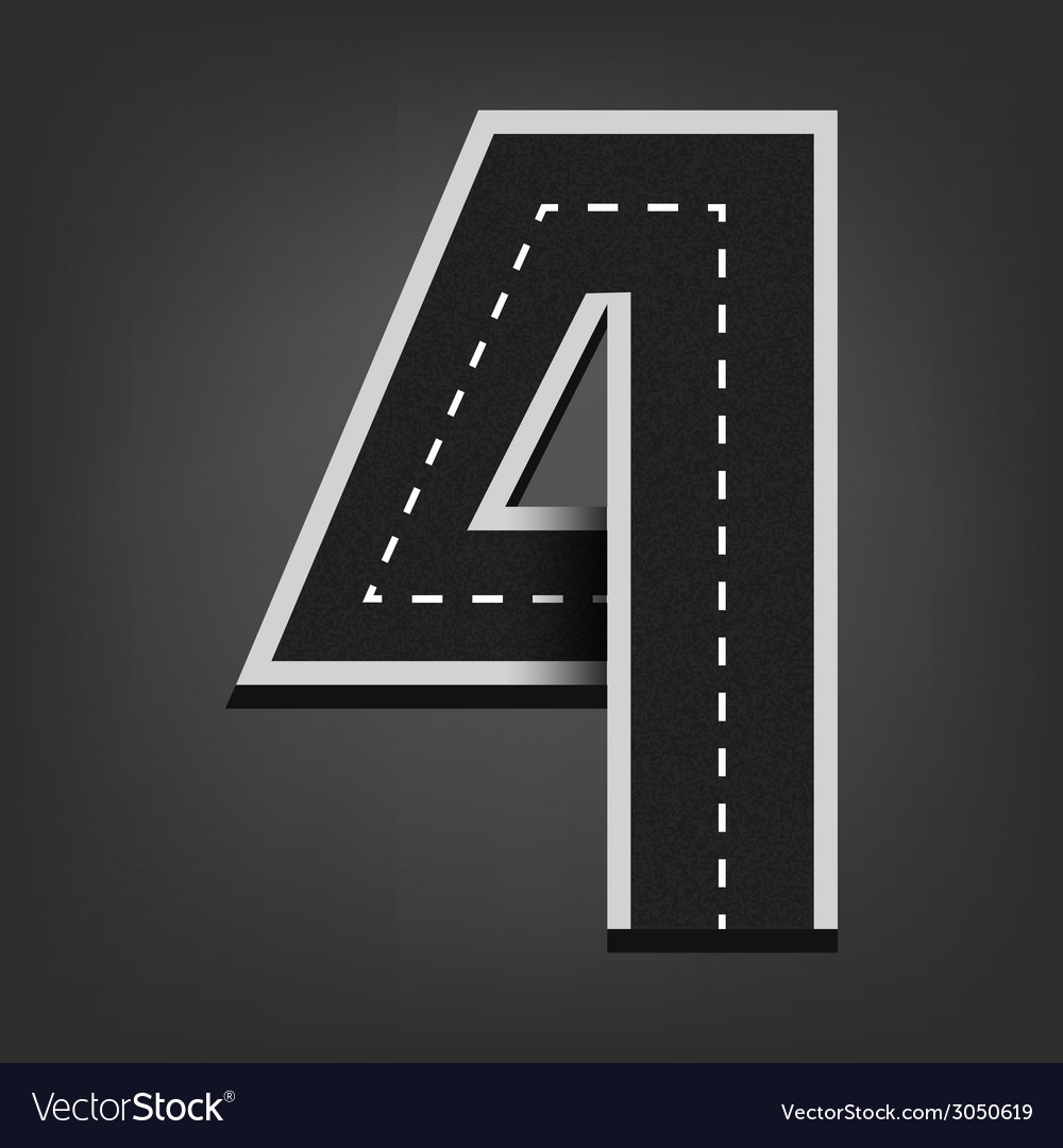 Four number Road font