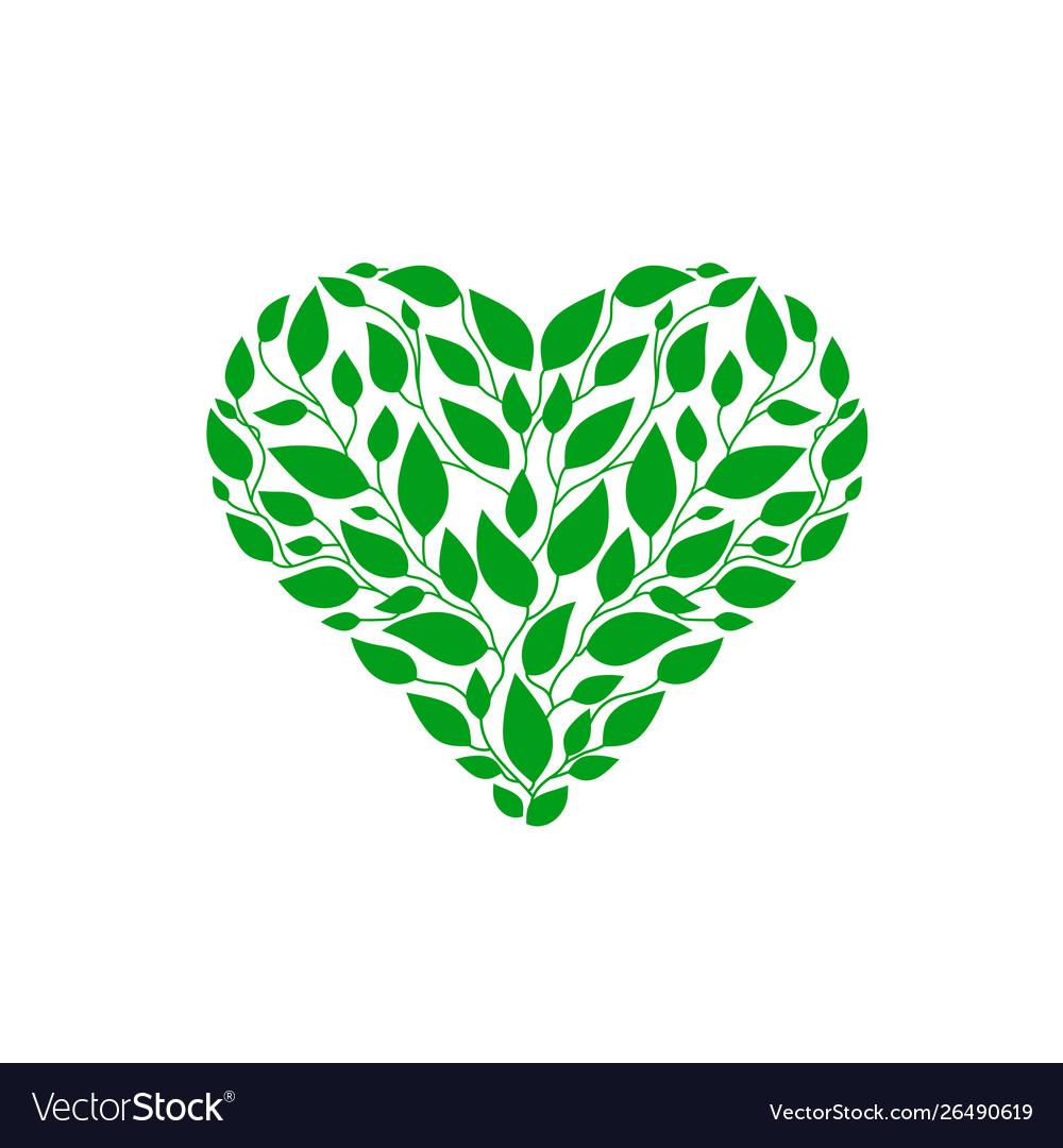 Heart green leaf