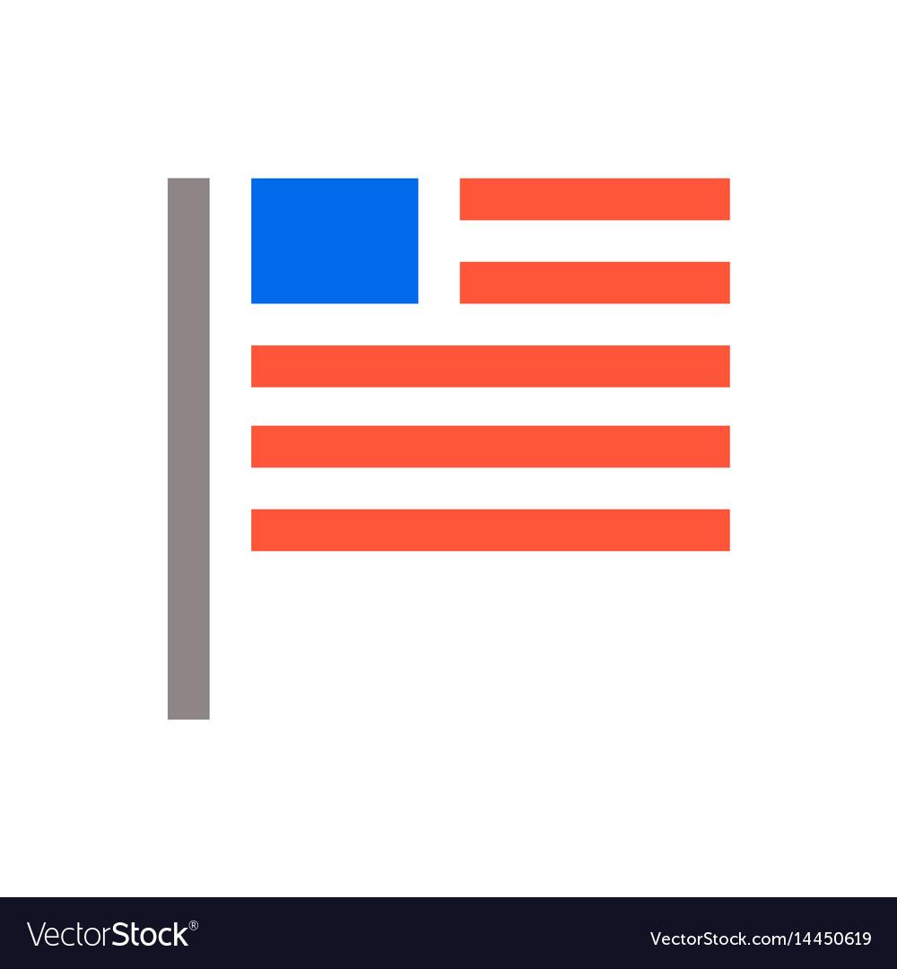 Minimal usa flag icon unaited states of america vector image