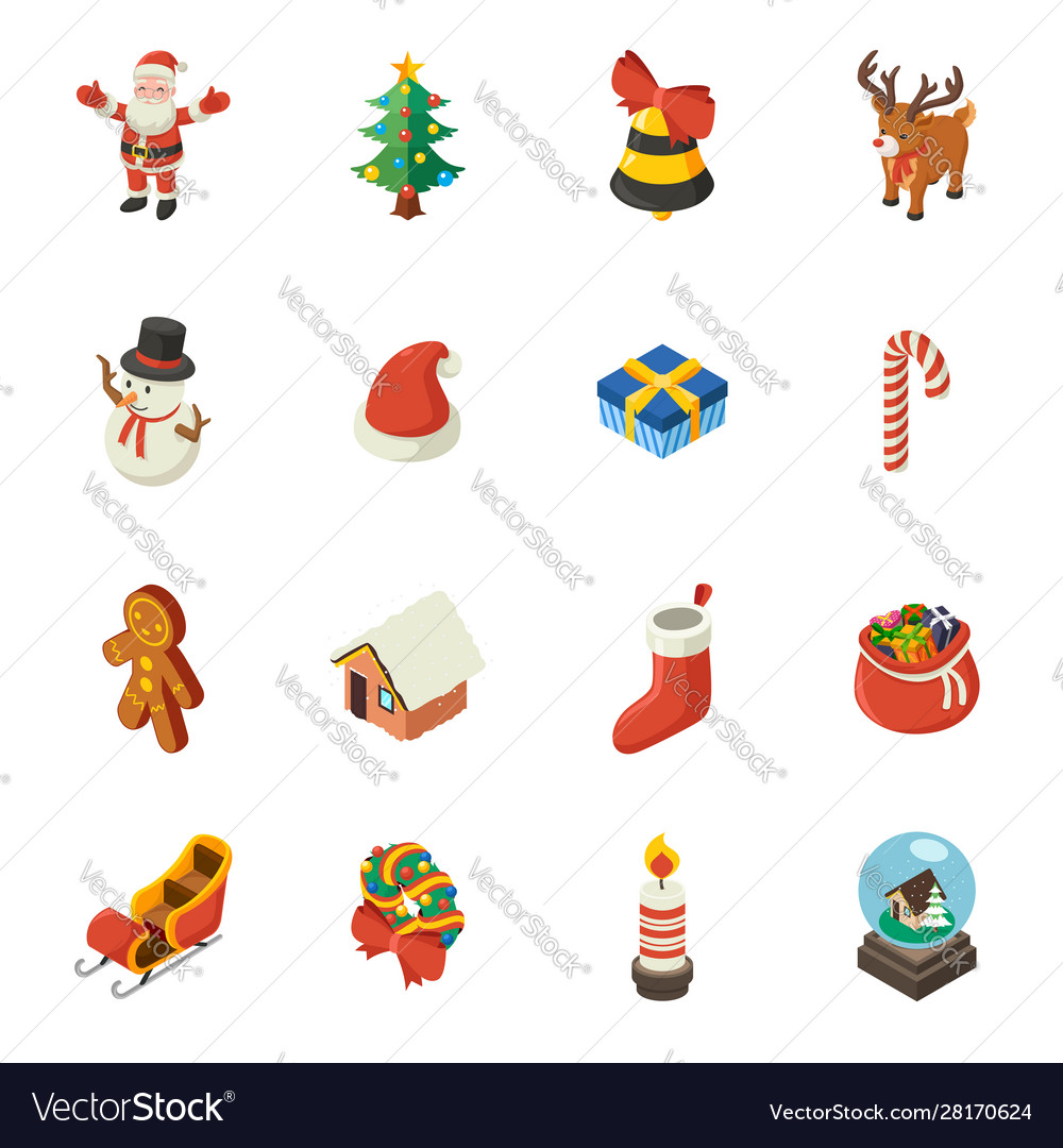Christmas isometric elements
