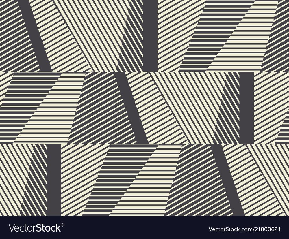 Complex geometric stripes seamless pattern vector image