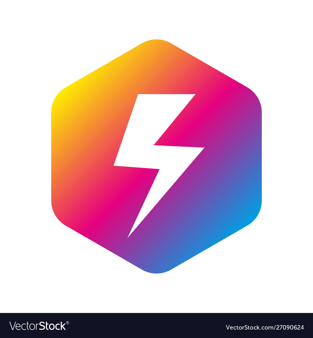 Flash logo abstract design template