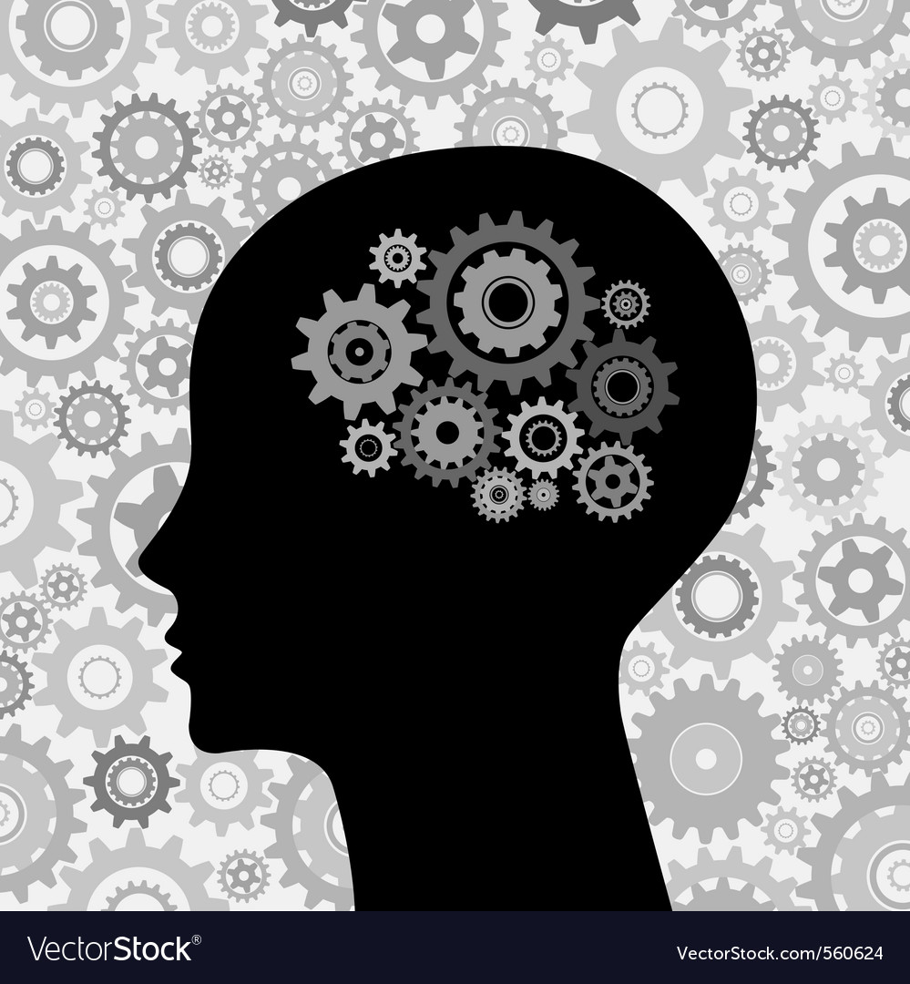 Intelligence human brain vector image