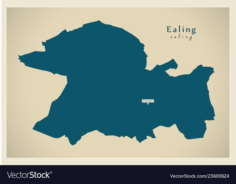 Map Of Greater London Area Uk.Modern Map Ealing Borough Greater London Uk