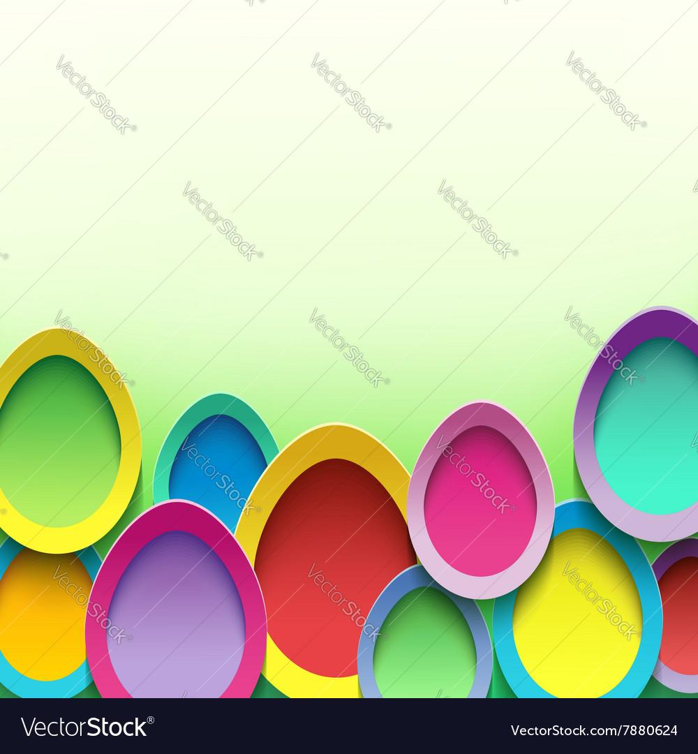 Stylish background with Easter egg