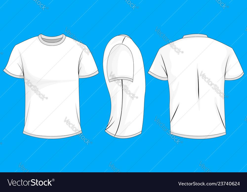white t shirt back side