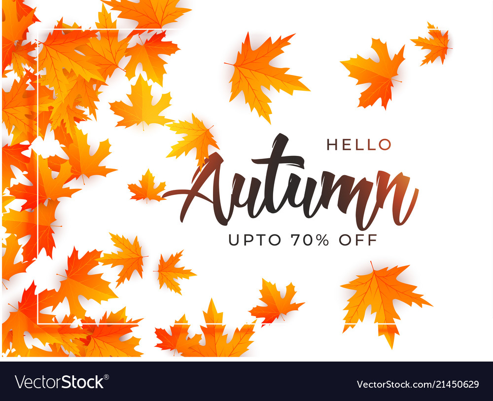 Beautiful Autumn Leaves Background Template