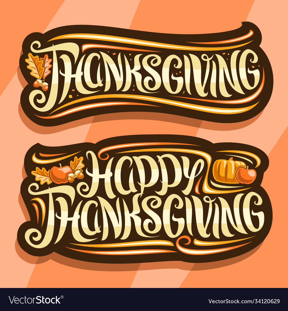 Logos for thanksgiving day