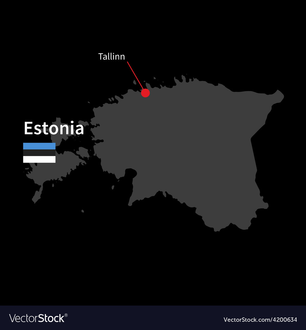 Detailed map of estonia and capital city tallinn vector image gumiabroncs Gallery
