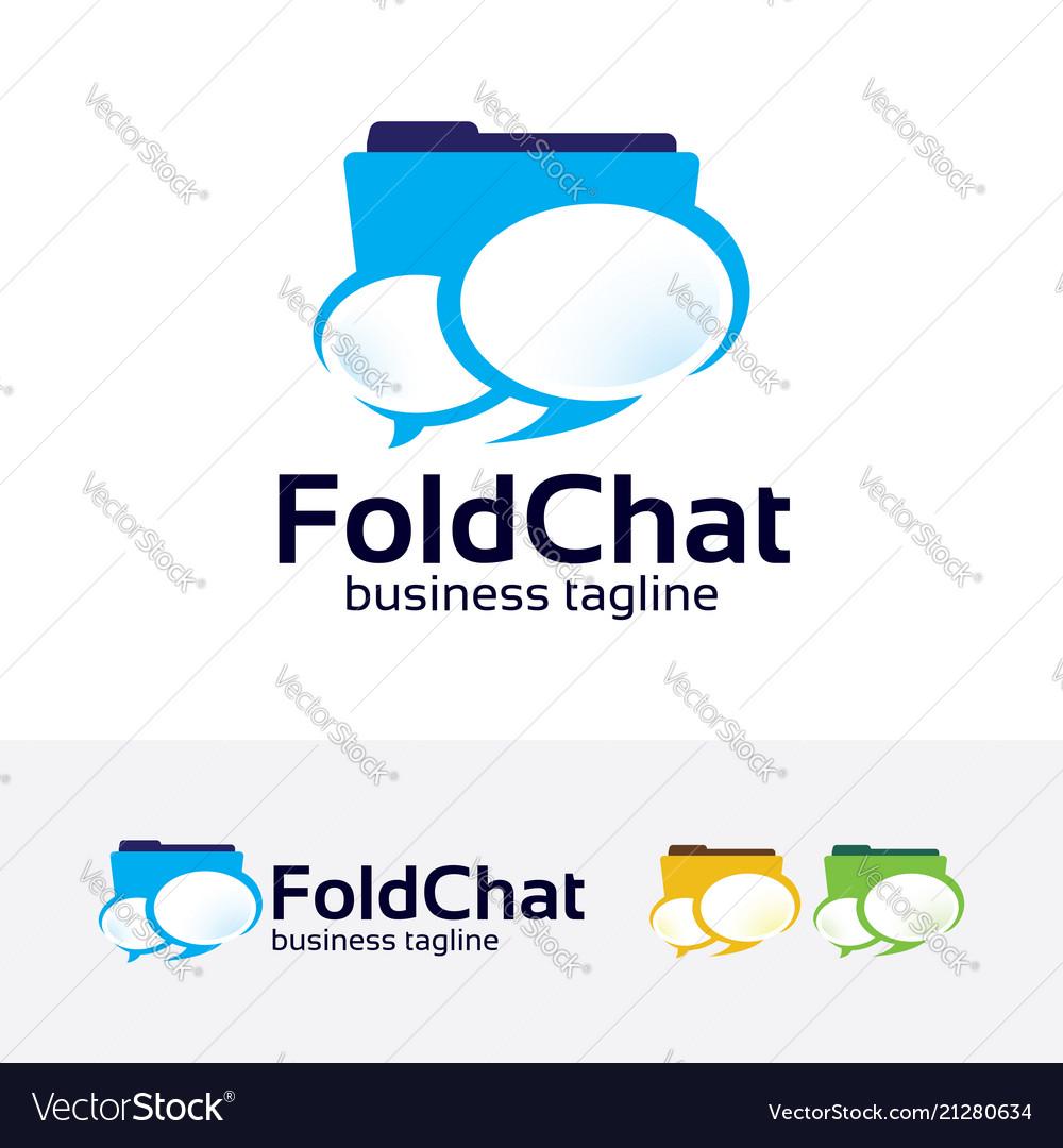 Folder chat logo design