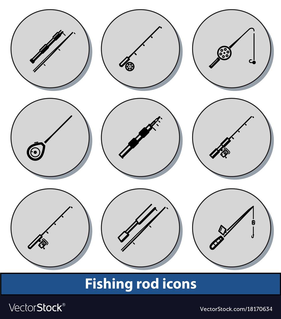 Light fishing rod icons