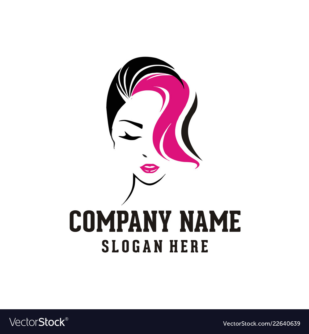 Beauty Woman Face Logo Royalty Free Vector Image