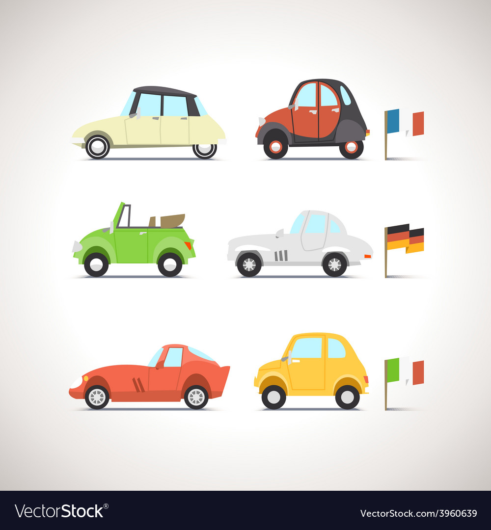 Car Flat Icon Set 8 vector image