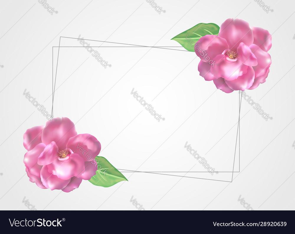 Floral frame template decoration