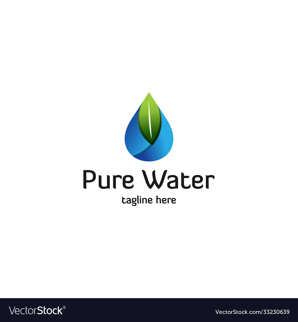 Pure-water-logo-template