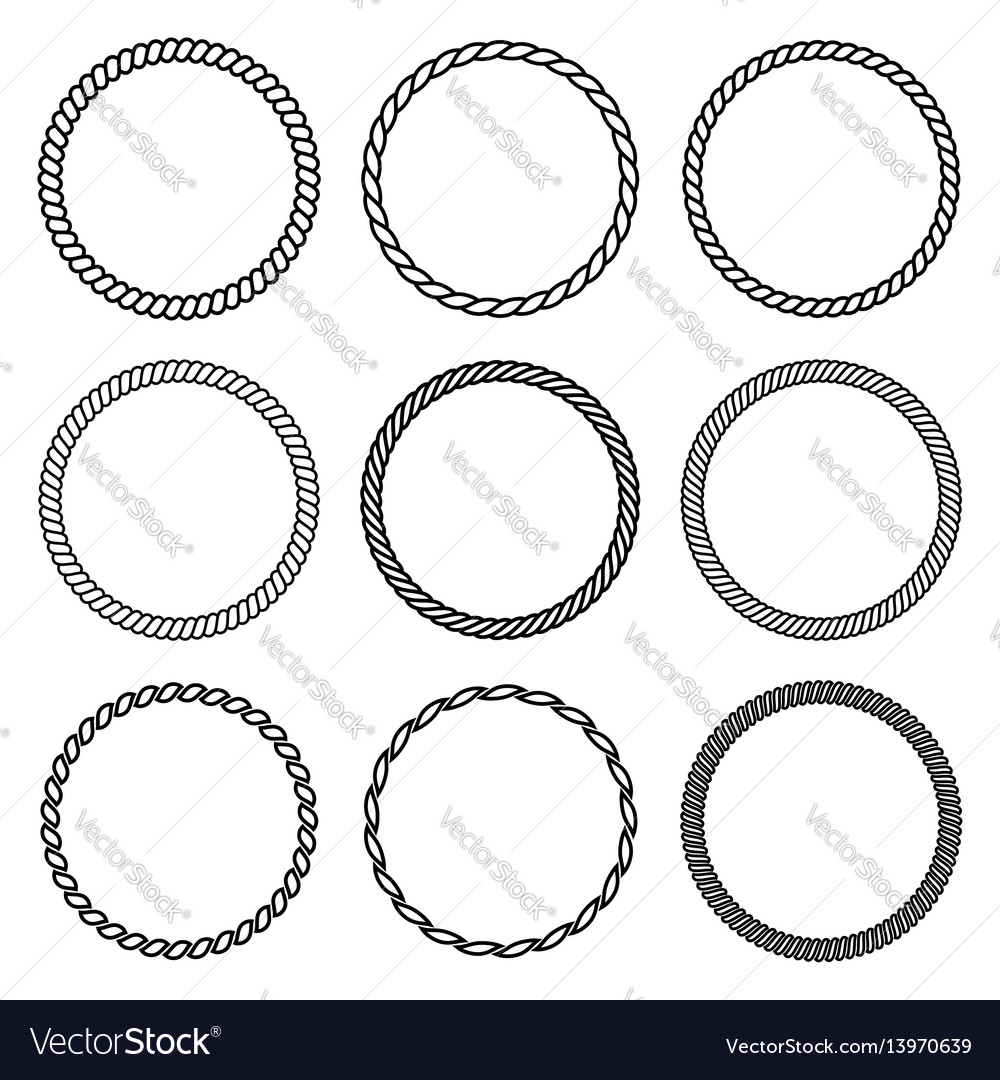 Set of round rope frame collection of thick and