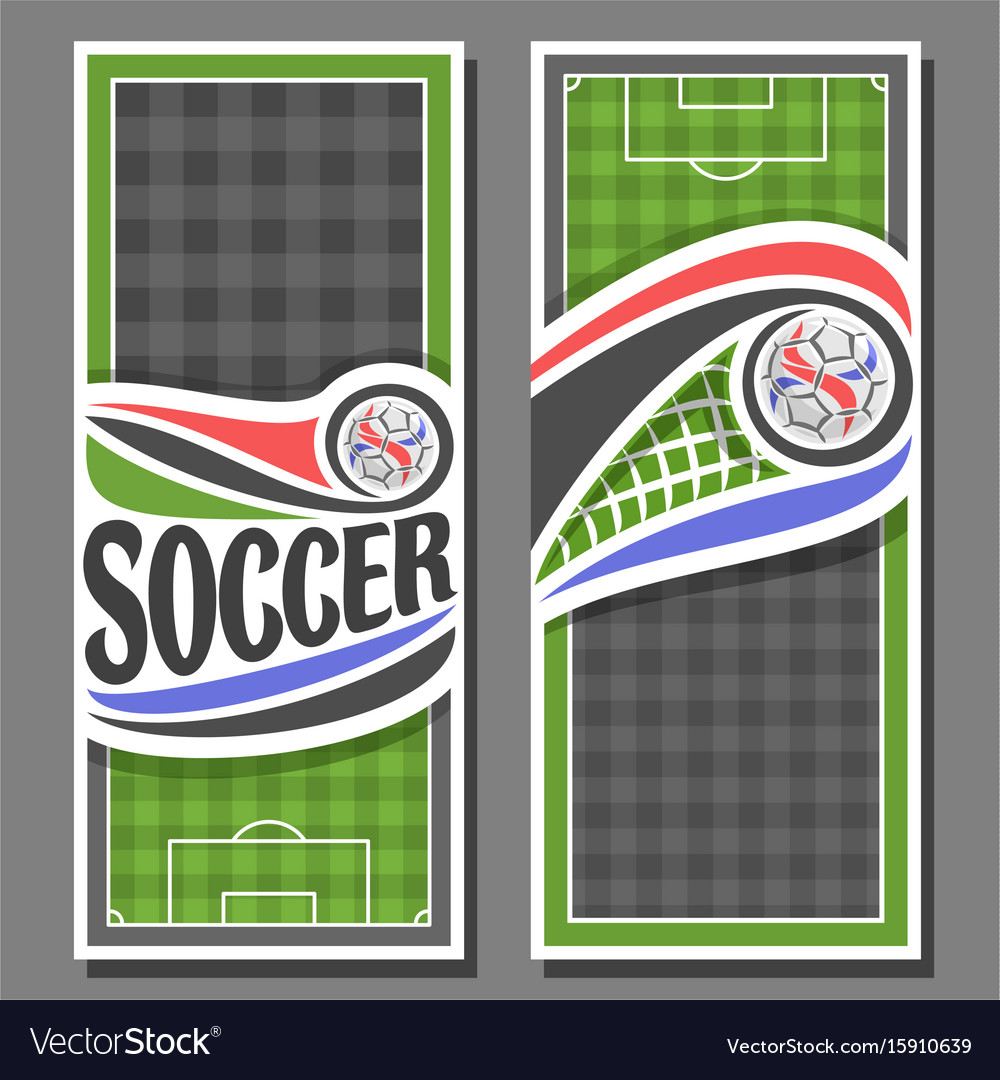 Vertical banners for soccer vector image