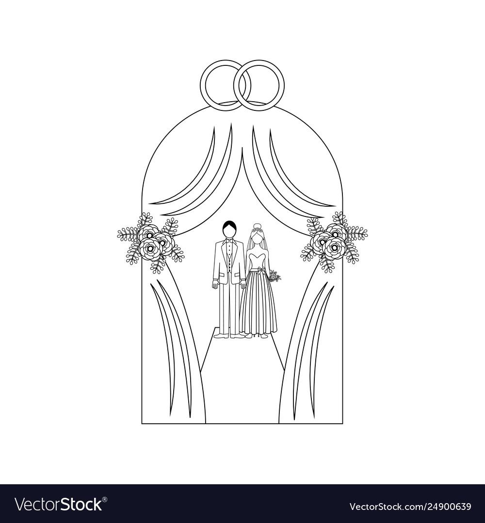 Wedding tent outline