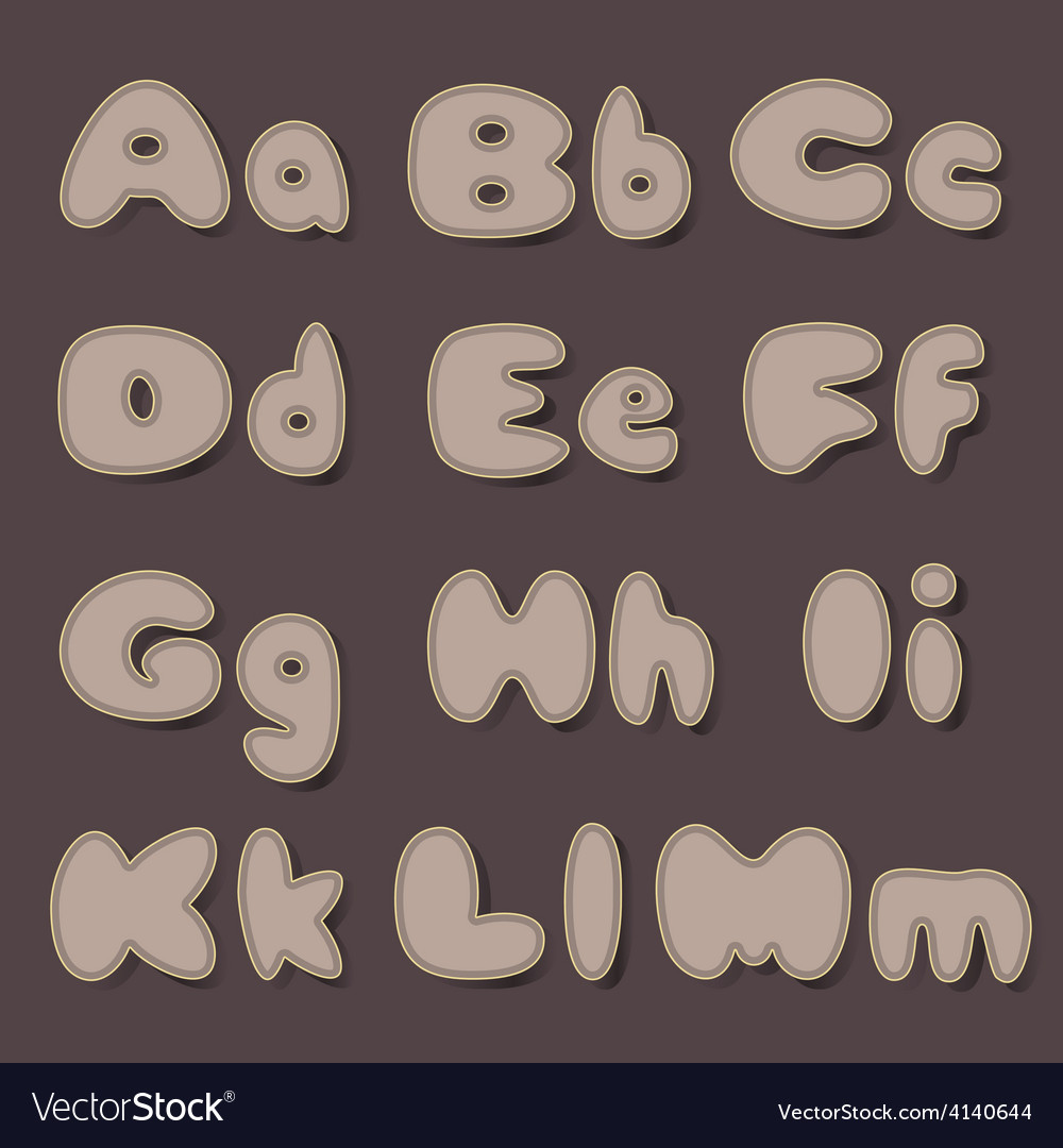 Abc bold cocoa vector image