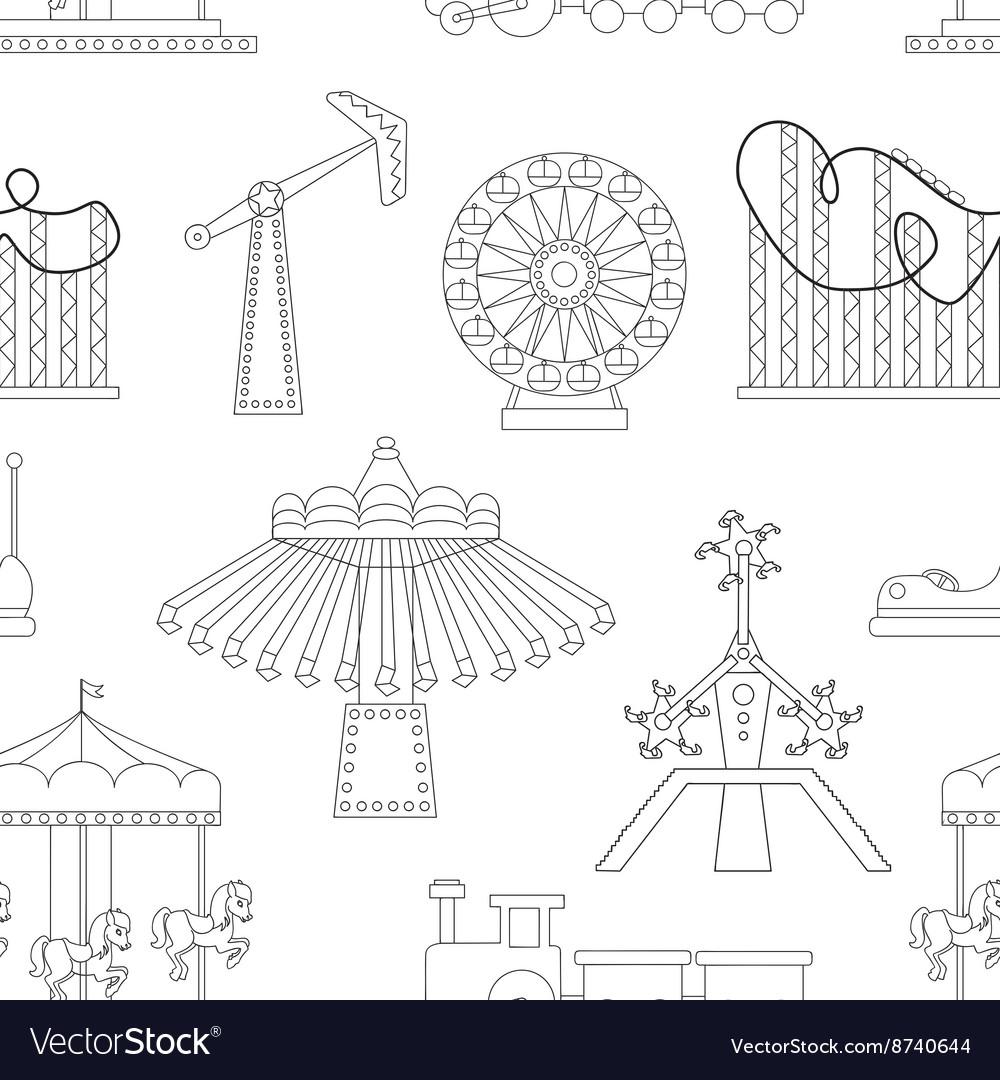 Amusement Park icons pattern