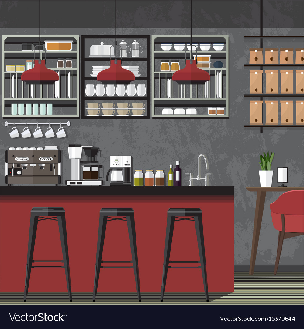 Design coffe shop amp cafe vector image