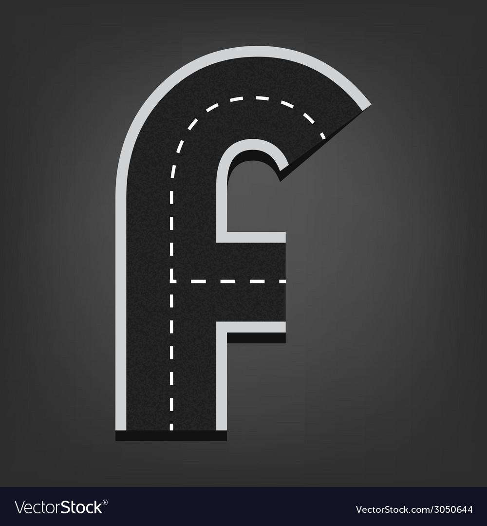 F letter Road font