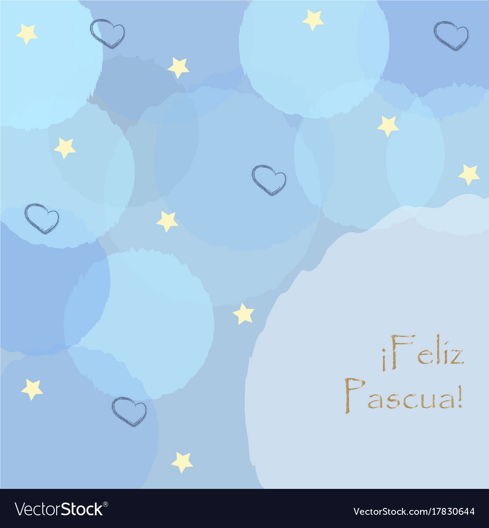 Happy easter greeting card spanish language vector image m4hsunfo