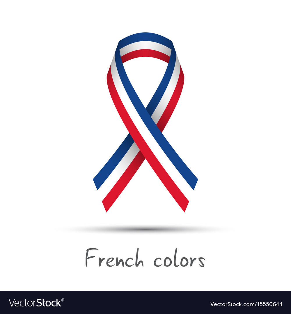 Modern colored ribbon with the french tricolor