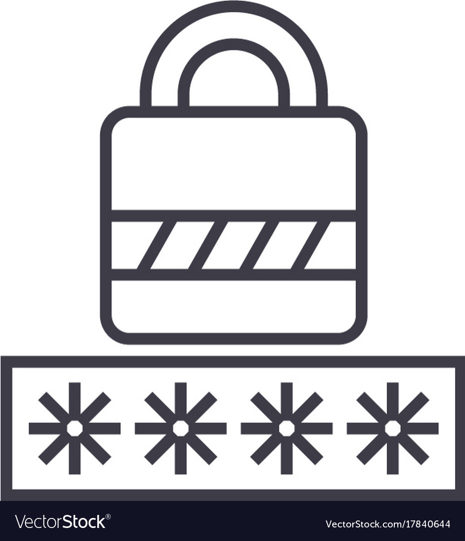 Passwordlogin lock line icon sign