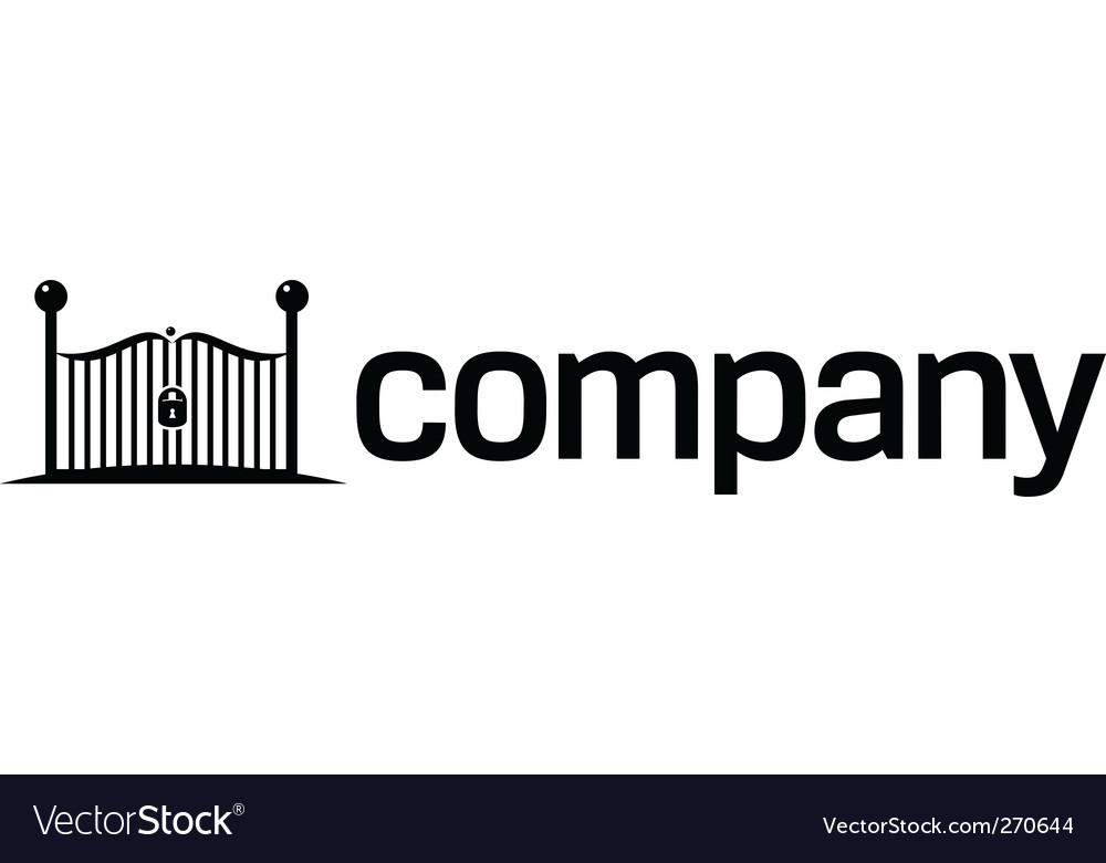 Security gates logo vector image