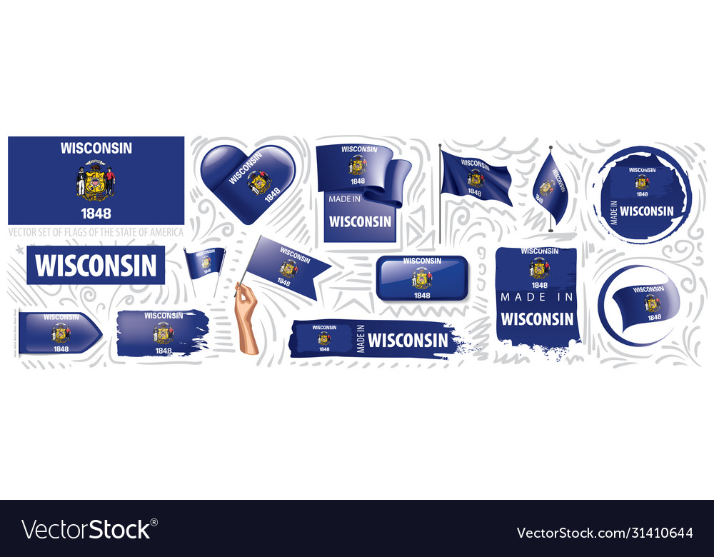 Set flags american state