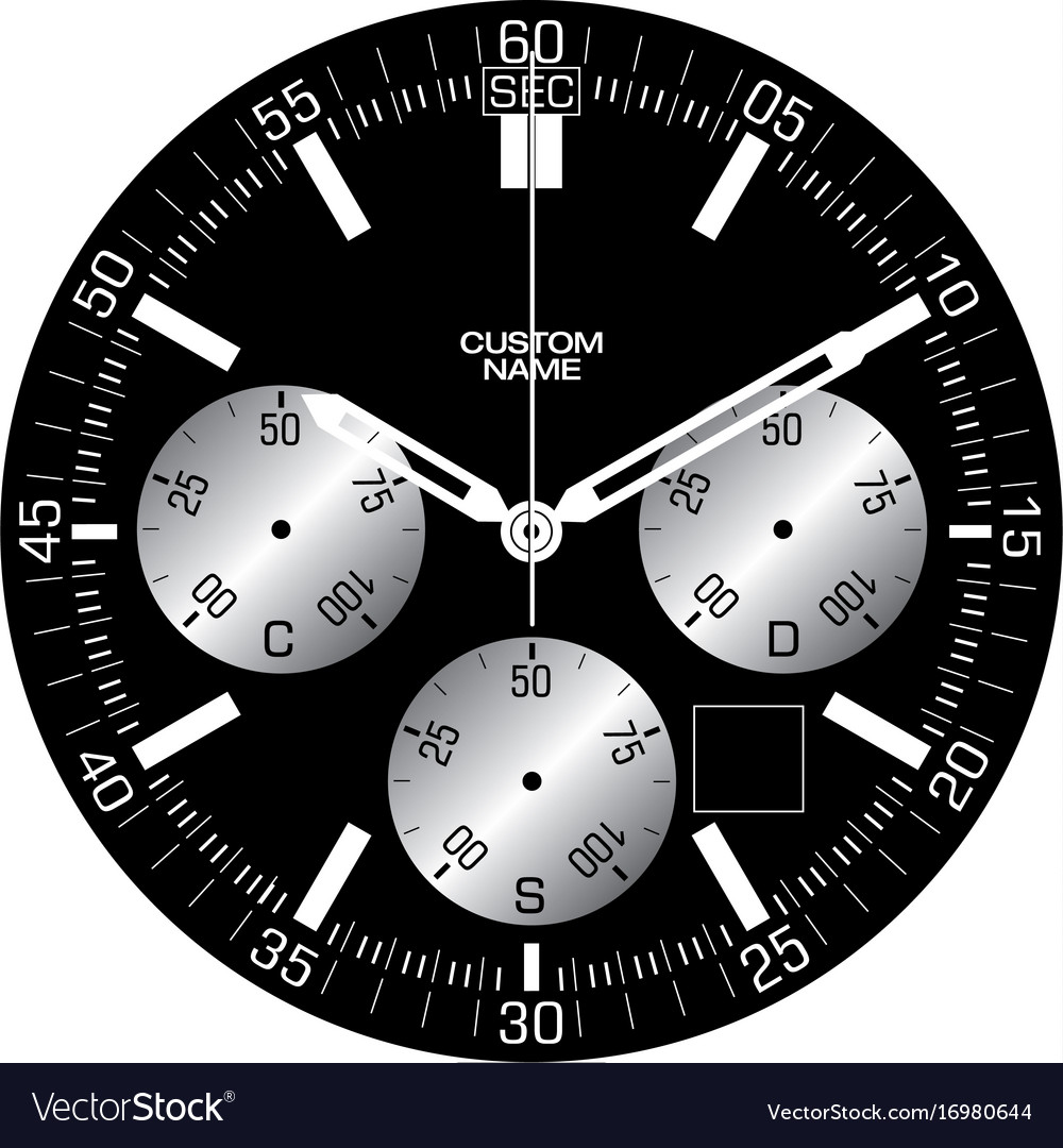 Smart watch face l vector image