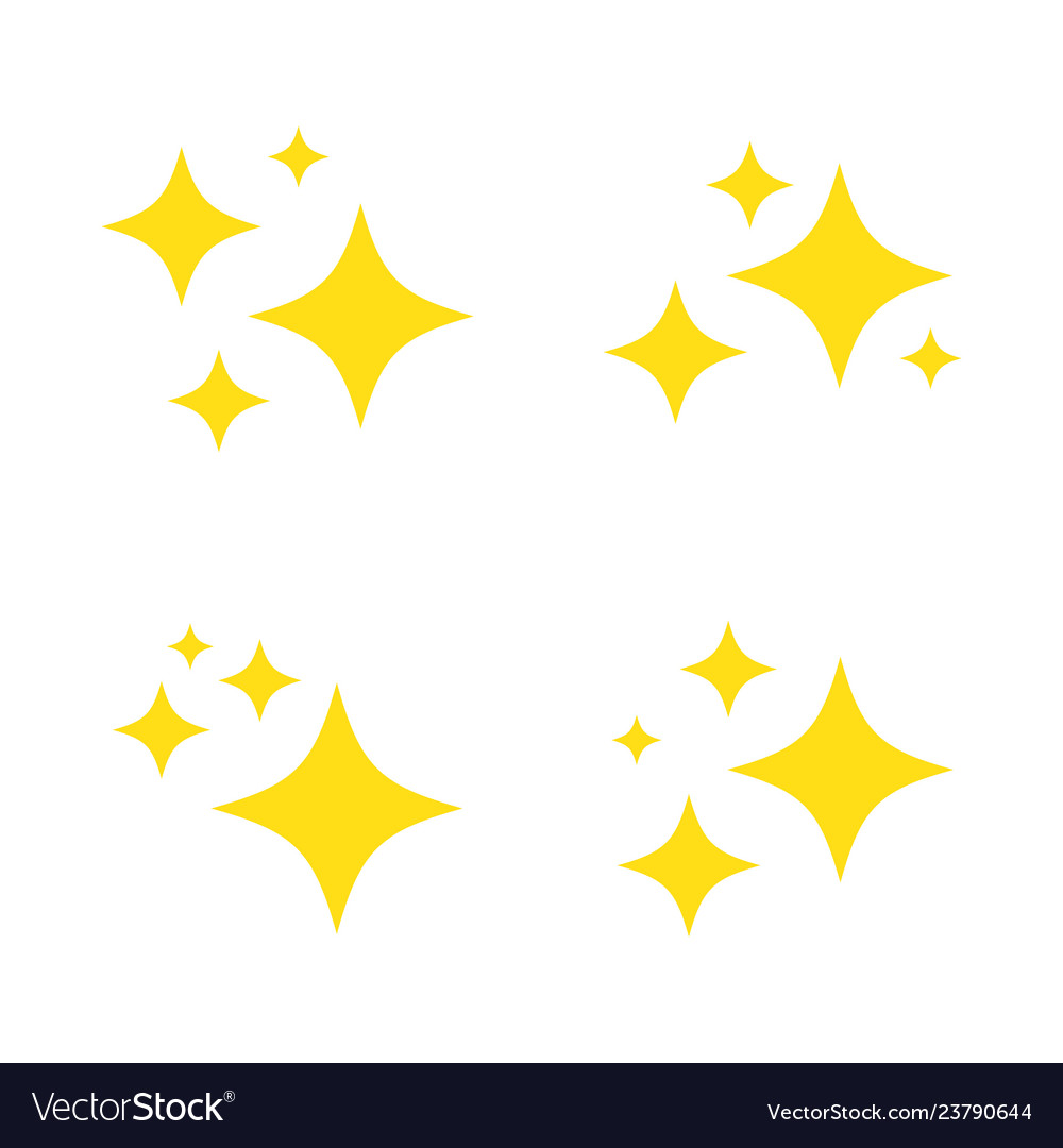 Sparkles and stars icons set