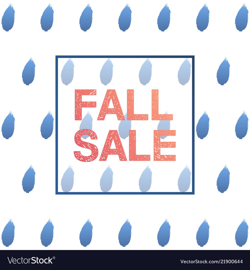 Trendy rainy day autumn sale banner for poster