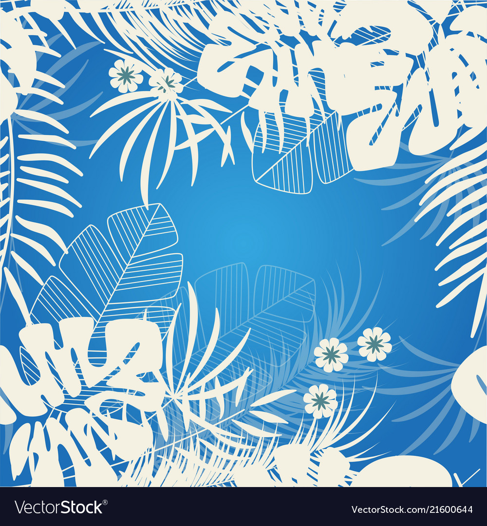 Tropical nature background pattern design floral
