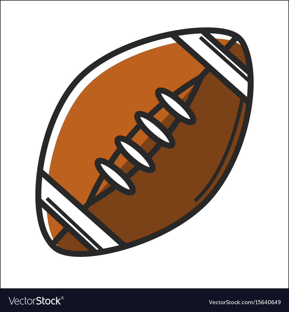 American football ball in graphic design on white vector image
