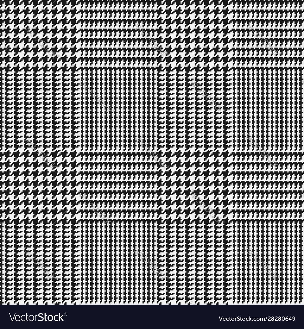 Glen check black and white checkered seamless