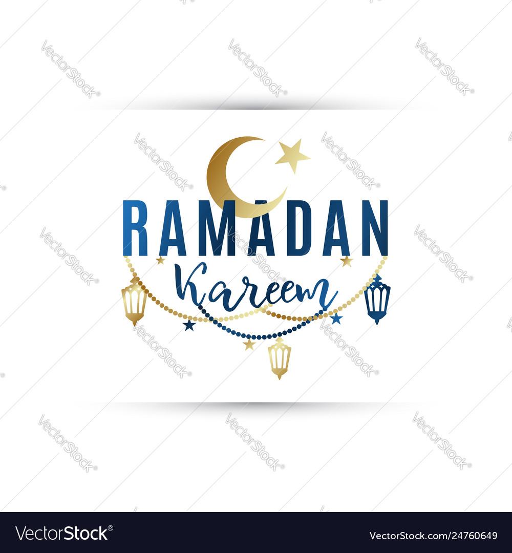 Greeting banner ramadan kareem