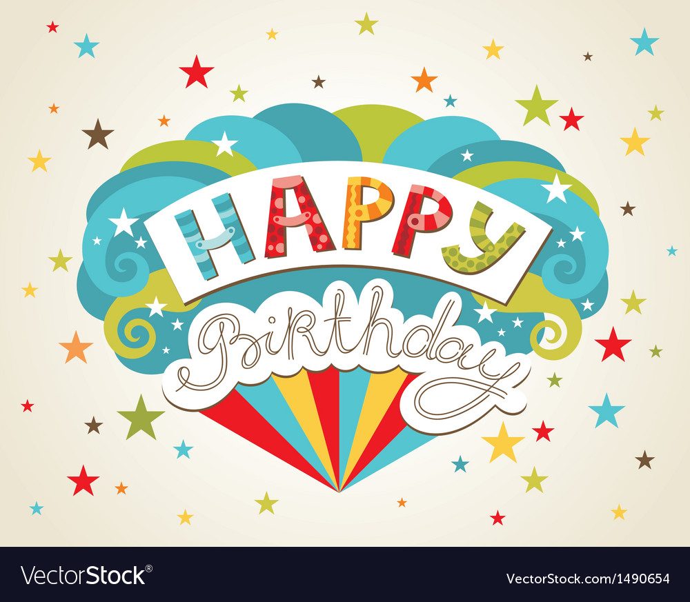 Happy birthday greeting card royalty free vector image happy birthday greeting card vector image m4hsunfo