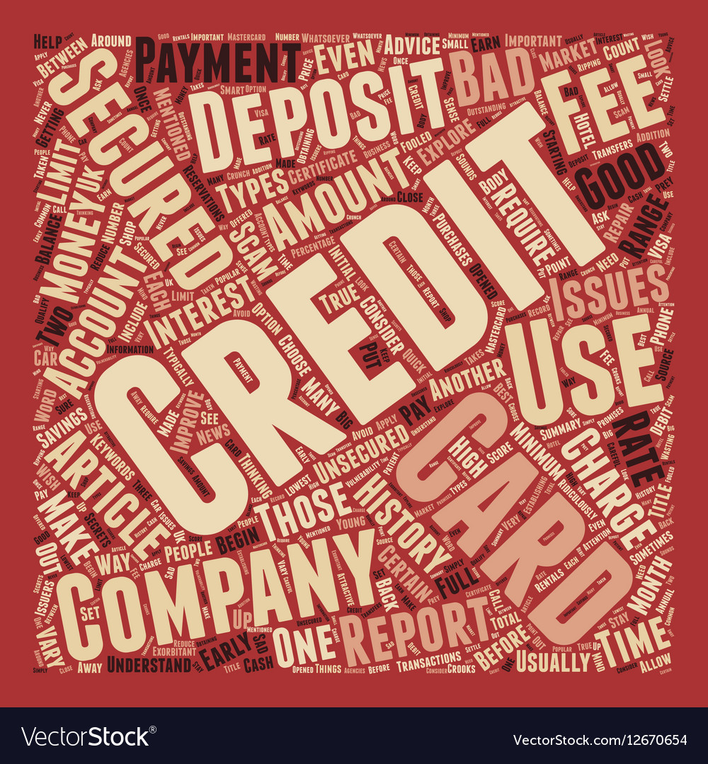 How To Use A Secured Credit Card text background