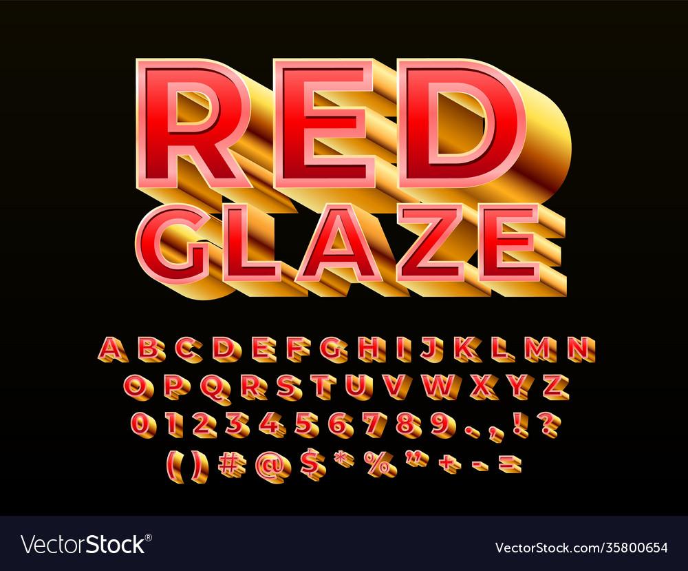 Metal 3d typeface chrome alphabet gold abstract